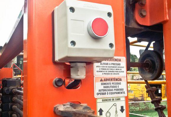 Botoeira ou botão de desbloqueio do inclinometro MSO COG Vibracon guindauto
