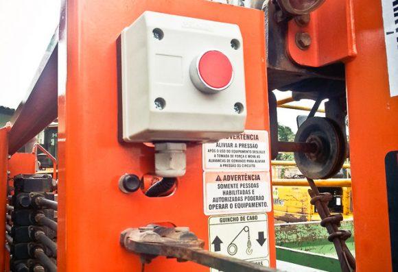 Botão de desbloqueio externo do inclinometro MSO COG Vibracon guindauto