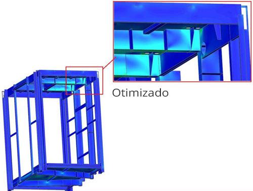 Detecção de pontos de sobrecarga por técnica de elementos finitos FEM Vibracon