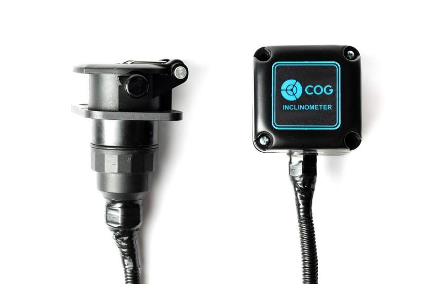 Sensor de inclinação com tomada de engate rápido para caminhão semi reboque